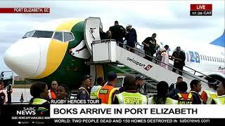Download Springboks arrive in Port Elizabeth Video