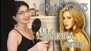 Download 1 GIRL 15 VOICES (SHAKIRA EDITION) Video