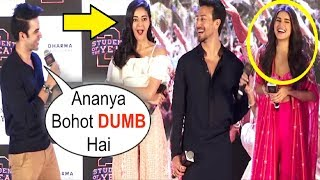 Download Tara Sutaria LAUGHS When Ananya Pandey Gets INSULTED At Mumbai Dilli Di Kudiya Song Launch Video