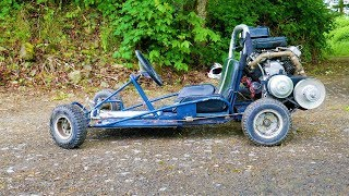 Download We put a Briggs V-twin on a kids Go kart Video