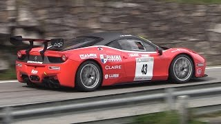 Download Ferrari 458 Challenge Sound On Hillclimb - Accelerations & Downshifts! Video