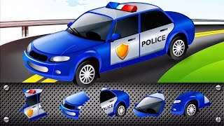 Download Transport Puzzle for Kids - Car, Police Car | Cars Puzzle for Toddlers : Videos for Children Video