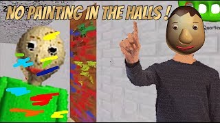 Download NO PAINTING IN THE HALLS!! | Baldi's Basics Mod: Baldi's Crazy Textured Basics Video