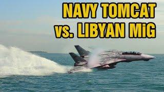 Download Declassified dogfight footage: F-14 Tomcat vs. Libyan MiG-23 Video
