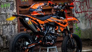 Download THE KTM EXC500 IS FINISHED! - EPISODE 10 Supermoto Build Video