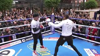 Download Explosive! David Haye works out before Bellew rematch Video