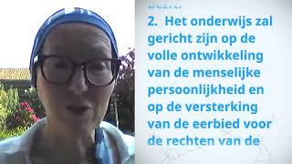 Download Inge de Waard, Belgium, reading article 26 of the Universal Declaration of Human Rights Video