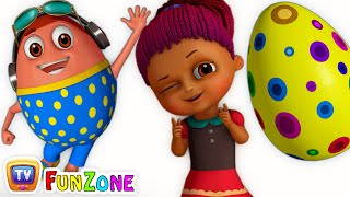Download Surprise Eggs Gumball Machine Ball Pit Show for Kids | Learn YELLOW Colour | ChuChuTV Funzone 3D Video