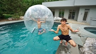 Download I TRAPPED MY TWIN BROTHER INSIDE A GIANT BUBBLE BALL! Video