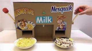 Download How to make Nesquik and Kosmostars machine with milk Video