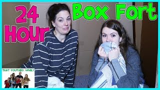 Download 24 Hour Overnight In Huge Box Fort Maze / That YouTub3 Family Video