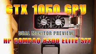 Download MSI GeForce GTX 1050 LP In HP Compaq 8200 Elite SFF (Installing GPU) Video