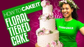 Download Delicious Spring Floral Tiered Cake for Mother's Day | How To Cake It | Yolanda Gampp Video