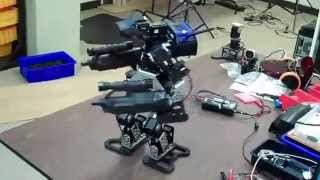 Download Two-Legged Warfare Robot With Guns - Aiming Fix Video