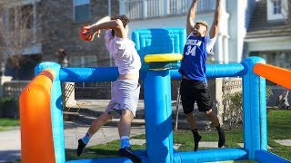 Download INSANE INFLATABLE BASKETBALL COURT CHALLENGE!! Video