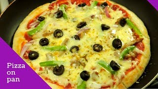 Download How To Make Pizza On Pan Or Tawa - How To Make Pizza Without Oven by (HUMA IN THE KITCHEN) Video
