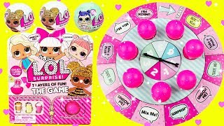 Download LOL SURPRISE GAME LOL Glitter Series Fun Board Game With Queen Bee, Diva, Luxe, Coconut QT Video