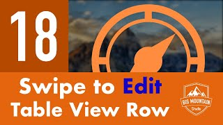 Download Swipe to Edit Table View Row - Part 18 - Itinerary App (iOS, Xcode 10, Swift 4.2) Video