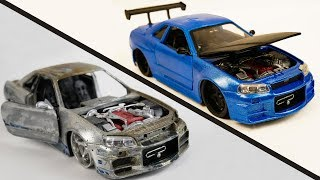 Download Repair Abandoned Toy Car #2 | Nissan Skyline GTR R34 Video