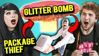 Download Adults React To Package Thief Vs. Glitter Bomb Trap Revenge Prank Video