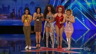 Download America's Got Talent 2016 The Spice Gurlz Lipsyncing Group Full Audition Clip S11E01 Video
