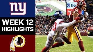 Download Giants vs. Redskins | NFL Week 12 Game Highlights Video