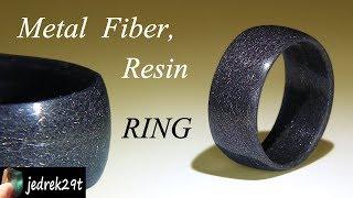 Download Resin and Steel Fiber RING/PIERŚCIONEK z Żywicy i Włókna Stalowego Video