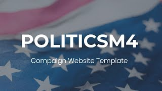 Download PoliticsM4   Campaign Website Template - Mobirise Video