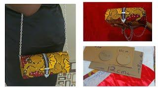 Download DIY Ankara clutch bag / purse out of carton Video
