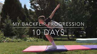 Download MY BACKFLIP PROGRESSION (10 DAYS) Video