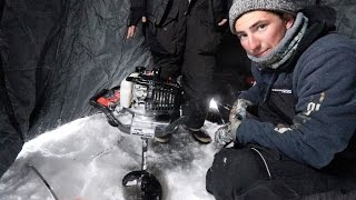 Download Two Idiots Get Auger Stuck in ICE! Video