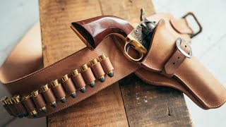 Download Making a Leather Cowboy Action Fast Draw Holster and Belt Video