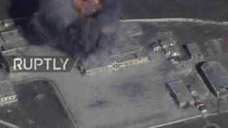 Download Syria: Drone shows Russian missile strikes on IS as new offensive begins Video
