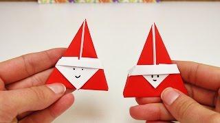 Download Süßes Nikolaus Origami DIY   Super niedliches Origami für den Nikolaus Tag   Weihnachtsmann Video