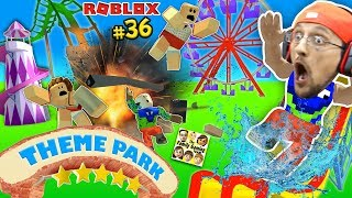 Download THEME PARK TYCOON ! Roller Coaster Roblox Fail Accident! FGTEEV Amusement Park Showcase Funny Glitch Video