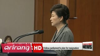 Download President Park to take action for resignation as proposed by National Assembly Video