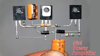 Download Mini Power Audio Amplifier Circuit Using 3 Transistor Video
