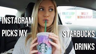Download My Instagram Followers Pick My Starbucks Drinks for a Week... Video