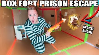 Download 24 HOUR BOX FORT PRISON ESCAPE ROOM!! 📦🚔 Secret ROOM FOUND & Calling Carter Sharer Video