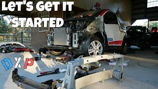 Download Repairing the Salvage Domino's Pizza DXP Car Engine Bay *Will It Start?* Video