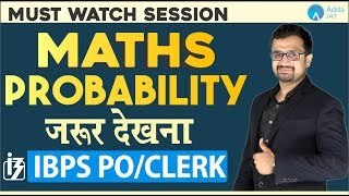 Download IBPS PO CLERK | Probability | MATHS | SUMIT SIR | 12 PM Video