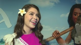 Download Auli'i Cravalho calls Dwayne Johnson a role model Video