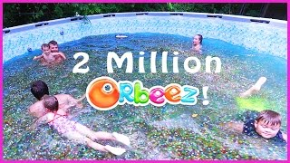 Download 😂SWIMMING IN A FAMILY SIZE POOL OF ORBEEZ!!!🔮 Video