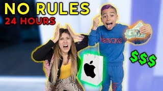 Download NO RULES For 24 Hours! *Gone Too Far* | The Royalty Family Video