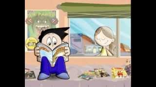 Download dibujos animados familiares sobre el cuidado de los ojos Video