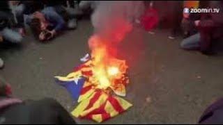 Download Cataluña queman banderas independentistas 3 Video