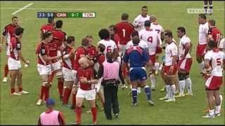 Download Canada vs Tonga fight leads to red card for Eddie Aholelei Video