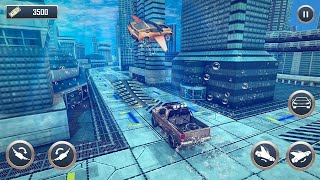 Download Underwater Stunts Car Flying Race Android Game HD Video