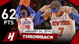 Download Carmelo Anthony NEW MSG Record Full Highlights vs Bobcats 2014.01.24 - UNREAL 62 Points, CAREER-HIGH Video