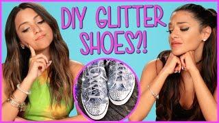Download DIY Glitter Sneakers?! | Niki And Gabi DIY or DI-Don't Video